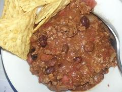 Simple to make:  Grass fed Beef Chili